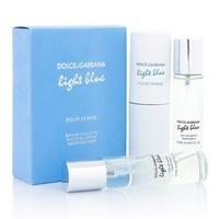 D&G LIGHT BLUE FOR WOMEN EDT 3x20ml