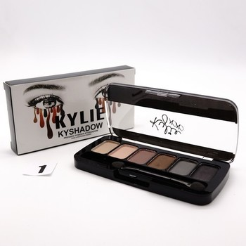 ТЕНИ KYLIE KYSHADOW PRESSED POWDER 6 ЦВЕТОВ - №1