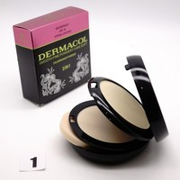 ПУДРА DERMACOL 2 IN 1 SMOOTH FINE WATERPROOF 30 SPF 30g - №1