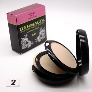 ПУДРА DERMACOL 2 IN 1 SMOOTH FINE WATERPROOF 30 SPF 30g - №2