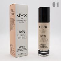 ТОНАЛЬНЫЙ КРЕМ NYX TOTAL CONTROL 30ml - №01