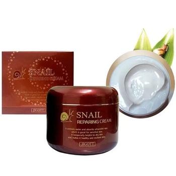 Крем для лица с муцином улитки Jigott Snail Repairing Cream 85 ml