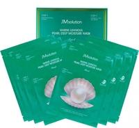 JMsolution Marine Luminous Pearl Deep Moisture Mask (Трёхшаговый увлажняющий набор с жемчугом) - 10 штук