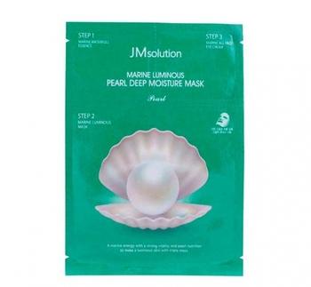 JMsolution Marine Luminous Pearl Deep Moisture Mask (Трёхшаговый увлажняющий набор с жемчугом)