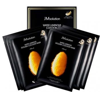 Тканевая маска с протеинами кокона золотого шелкопряда JMsolution Water Luminous Golden Cocoon Mask - 10 штук