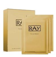 RAY Facial Mask Gold / Омолаживающая маска для лица с коллоидным золотом (10 штук)