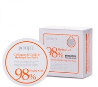 Гидрогелевые патчи для глаз Petitfee 98% Collagen and CoQ10 Hydro Gel Eye Patch, 60 шт