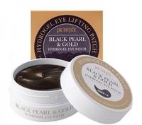 Патчи для кожи вокруг глаз гидрогелевые c черным жемчугом Petitfee Black Pearl&gold Hydrogel Eye Lifting Patch, 60 шт